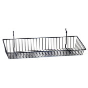 """Sloping basket 24""""w x 8""""d x 4""""h back x 2""""h front Universal fit black"""