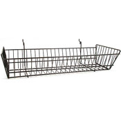 Wire Basket 24w x 10d x 5h - black