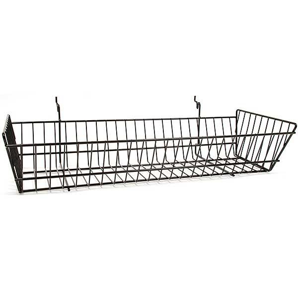 Wire Basket 24w x 10d x 5h - black