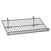 "Sloping shelf 23-1/2""w x 12""d Universal fit - black"