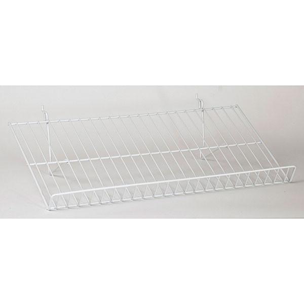 "Sloping shelf 23-1/2""w x 12""d Universal fit - white"