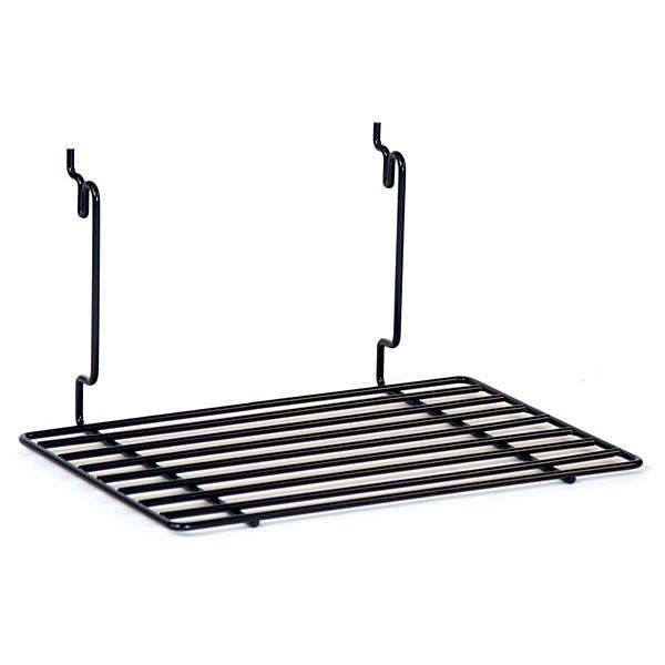 """Flat shelf 12""""w x 8""""d Universal fit - black"""