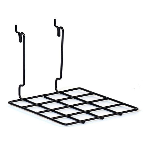 """Flat shelf 8""""w x 8""""d Universal fit - black"""
