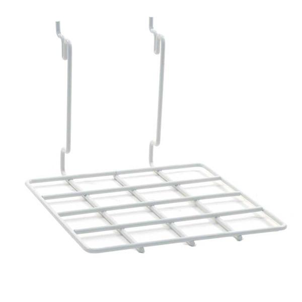 "Flat shelf 8""w x 8""d Universal fit - white"
