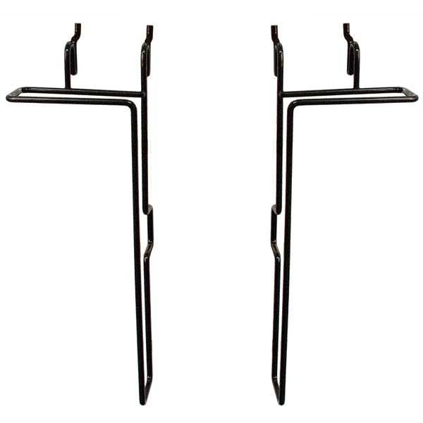 """Universal Adjustable wire literature holder - 11""""h x 1""""d - black"""