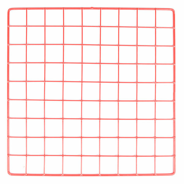 "Mini grid 14"" x 14"" - red"