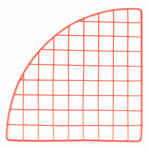 "Mini grid corner 14"" - red"