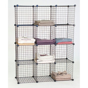 Mini grid shelf unit-black