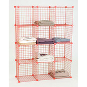 Mini grid unit 12 shelf - red