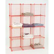 Mini grid unit 12 shelf - red