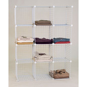 Mini grid unit 12 shelf - white