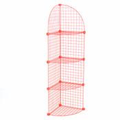 Mini grid corner unit 4 shelf - red