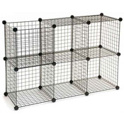 Mini Grid Unit 6 Shelf - Black