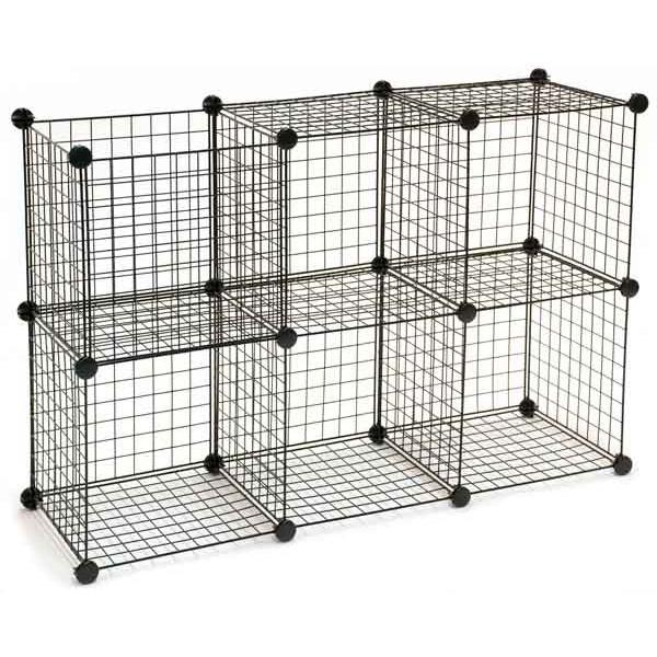 Mini Grid Unit 6 Shelf - Black