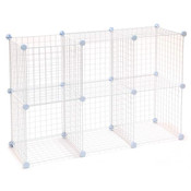 Mini Grid Unit 6 Shelf - White