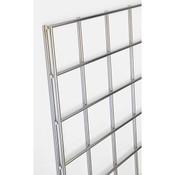 Gridwall panel 2'w x 4'h-chrome