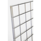 Gridwall panel 4'w x 4'h-chrome