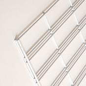 Slatgrid panel 2'x4'-white