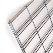 Slatgrid panel 2'x8' -chrome