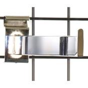 "Gridwall faceout 12""– rectangular tube– chrome"