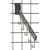 Gridwall 5 hook waterfall– rectangular tube -black