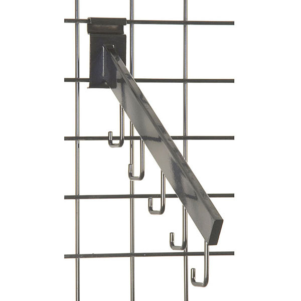 Gridwall 5 hook waterfall– rectangular tube -black
