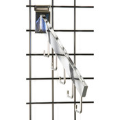 Gridwall 5 hook waterfall– rectangular tube -chrome