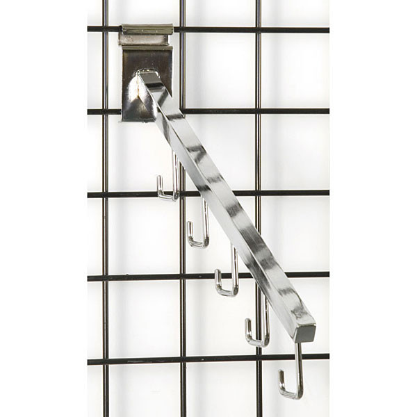 Gridwall 5 hook waterfall– chrome