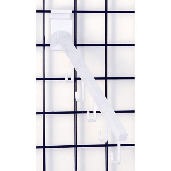 Gridwall 5 hook waterfall– white