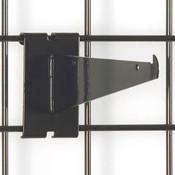 "Gridwall 8"" shelf bracket-black"