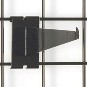"Gridwall 8"" shelf bracket-black"