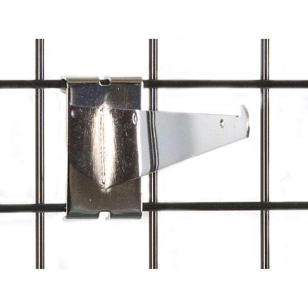 """Gridwall 8"""" shelf bracket-chrome"""