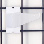 """Gridwall 8"""" shelf bracket-white"""