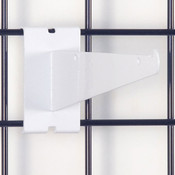 "Gridwall 8"" shelf bracket-white"