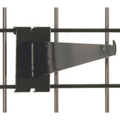"Gridwall 10"" shelf bracket-black"