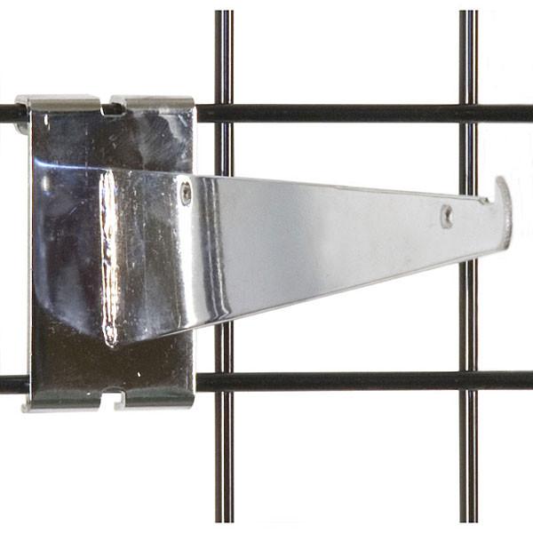 """Gridwall 10"""" shelf bracket-chrome"""