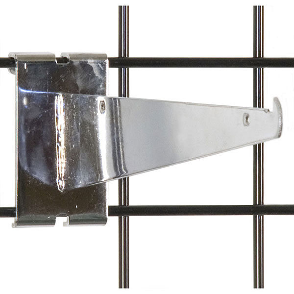 "Gridwall 10"" shelf bracket-chrome"