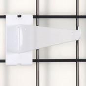 """Gridwall 10"""" shelf bracket-white"""