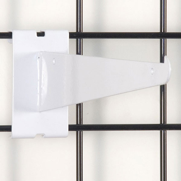 "Gridwall 10"" shelf bracket-white"