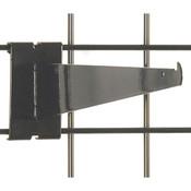 "Gridwall 12"" shelf bracket-black"