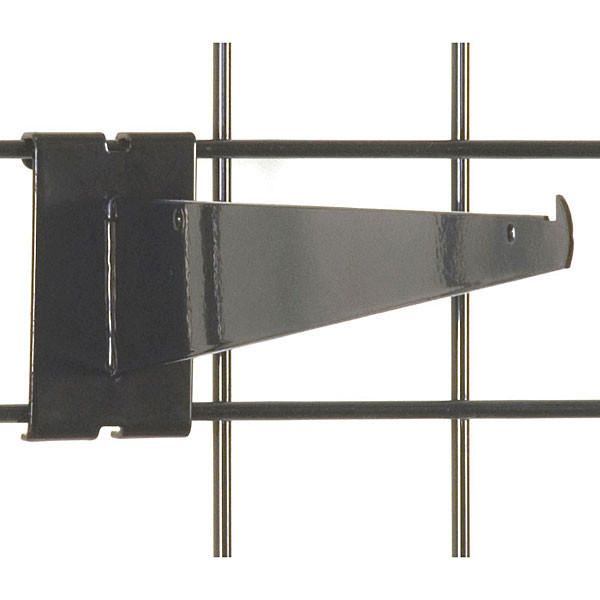 "Gridwall 12"" shelf bracket-black"