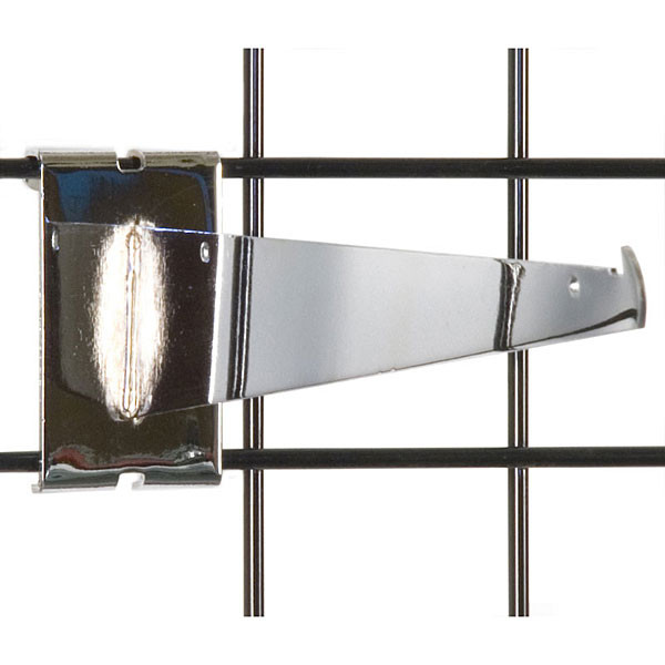 "Gridwall 12"" shelf bracket-chrome"