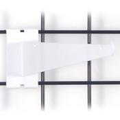 """Gridwall 12"""" shelf bracket-white"""