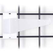 "Gridwall 12"" shelf bracket-white"