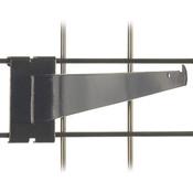 "Gridwall 14"" shelf bracket-black"