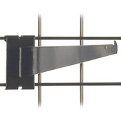 "Gridwall 14"" shelf bracket-black"