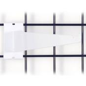 """Gridwall 14"""" shelf bracket-white"""
