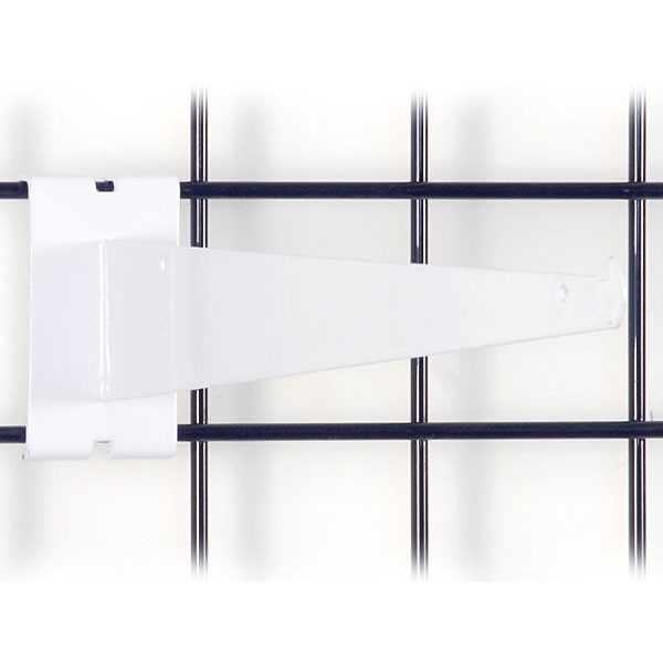 "Gridwall 14"" shelf bracket-white"