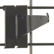 "Gridwall 6"" shelf bracket-black"
