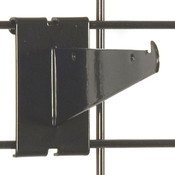 "Gridwall 6"" shelf bracket-black"